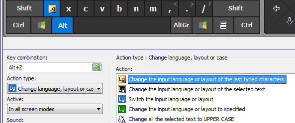 Change the language of already typed text